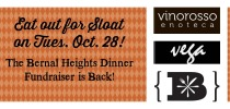 The Bernal Dinner Fundraiser is Back! Tuesday October 28th